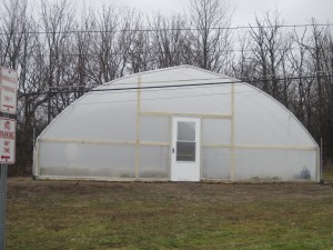 High tunnel greenhouse on the Auburn campus