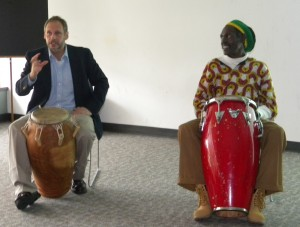 Dr. Bilderback performs with drummer Quadir Muntaqim
