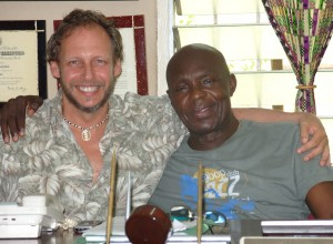 Barry with Professor Komala Amoaku, from the Ewe ethnic group in Ghana summer 2009