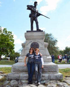 Mary Kriever with Louise Wilson on the Alumni Association trip to Gettysburg PA in September 2013.