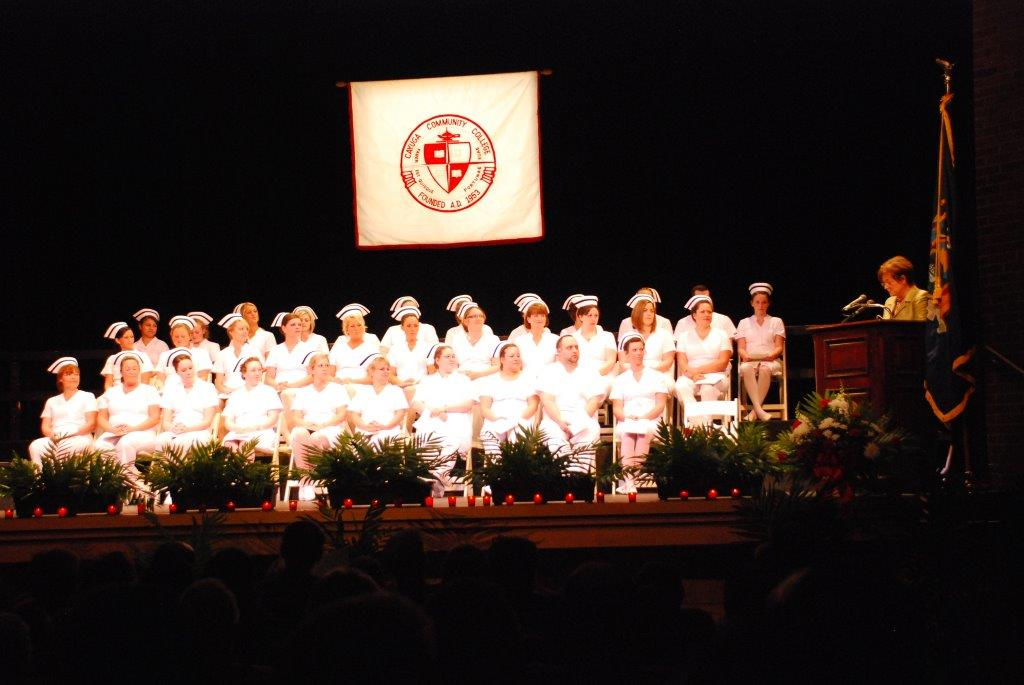 Linda Alfieri addresses the nursing class of 2013.