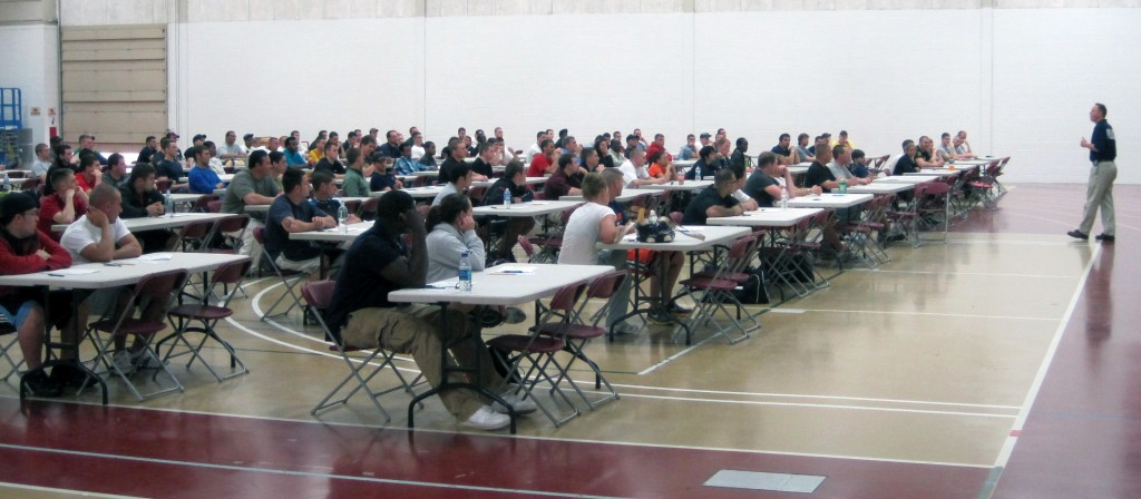 The examination was held in Spartan Hall on April 26.