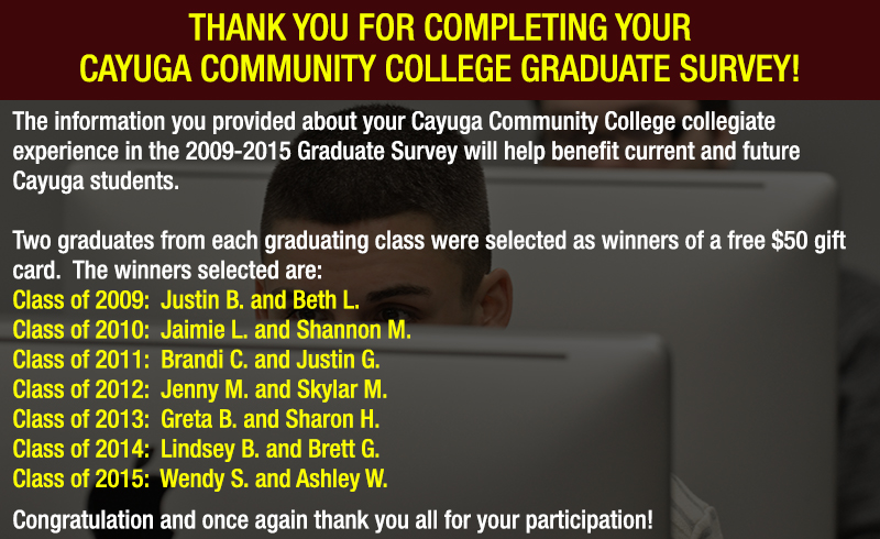 Graduate Survey Winners
