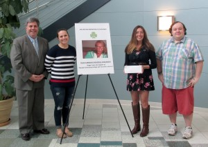 Guy Cosentino, Foundation Director; Abbie Connors (2016-2017 Peggy Carroway Scholarship winner), Amy Walker, and Steve Brewer.