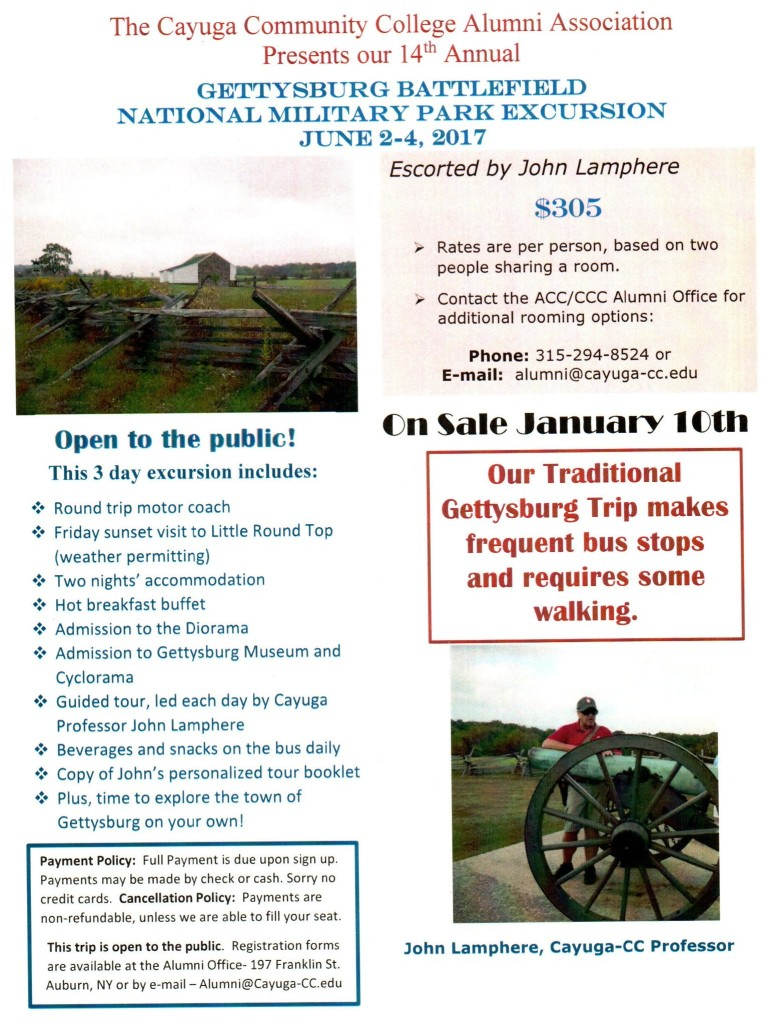 Gettysburg Traditional Trip Poster