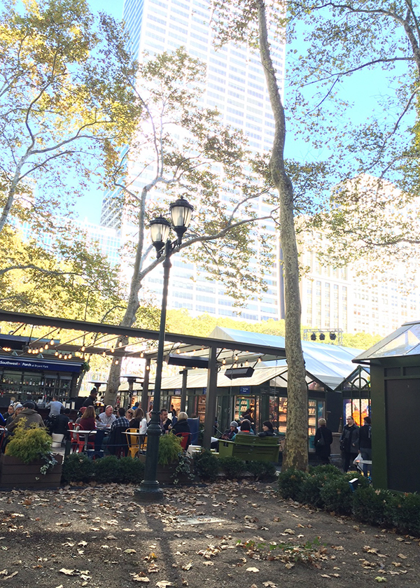 EATERY AND SHOPPING AT BRYANT PARK