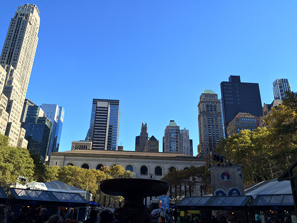 SKYLINE VIEW FROM BRYANT PARK
