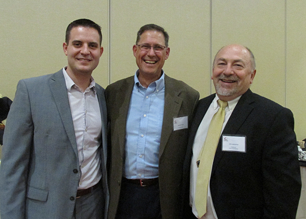 Jacobs Press David Verdi and Mike Tripani with Foundation Board John Latanyshyn