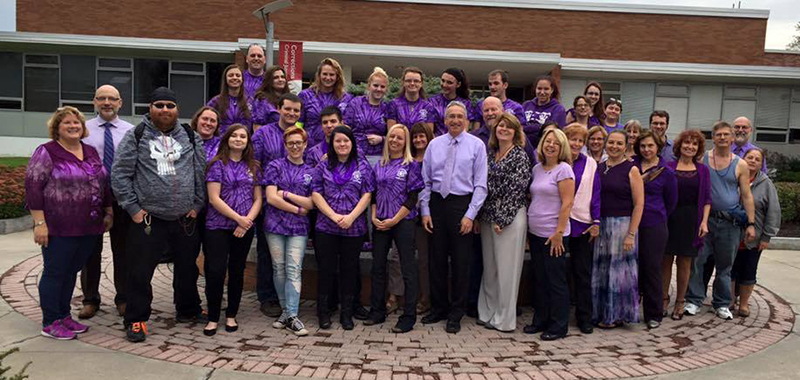 Domestic Violence Awareness - wear purple