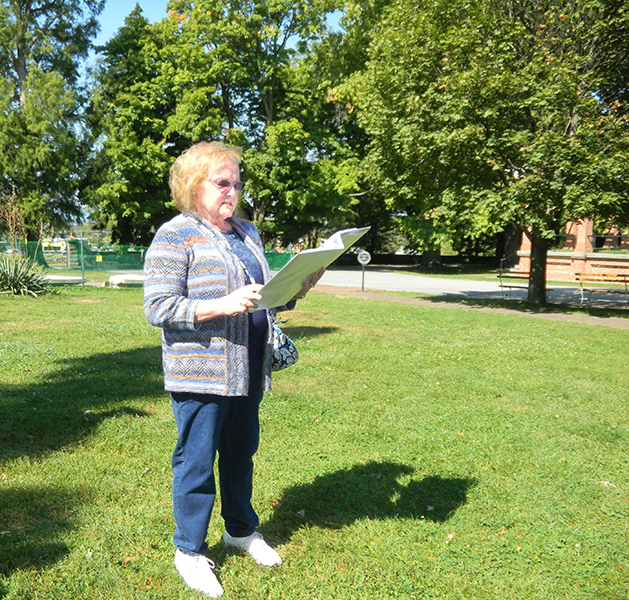 Beverly Sayles-reading Gettysburg Address