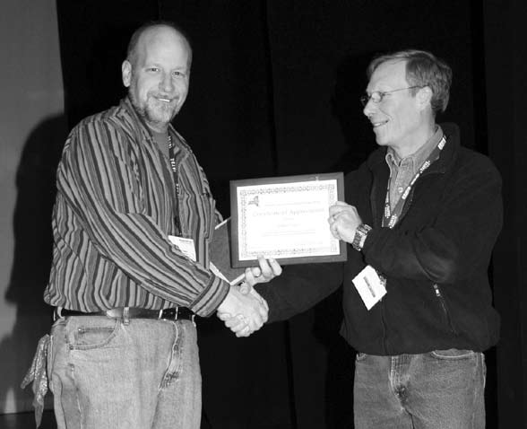 Bob Fram accepts Award - Spartan 2008.jpg