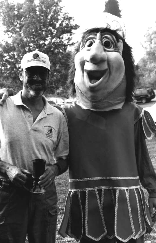 Dr. Golladay with Sparty- Spartan 2007.jpg