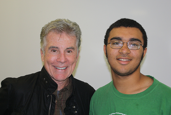 John Walsh and student Caleb Slater