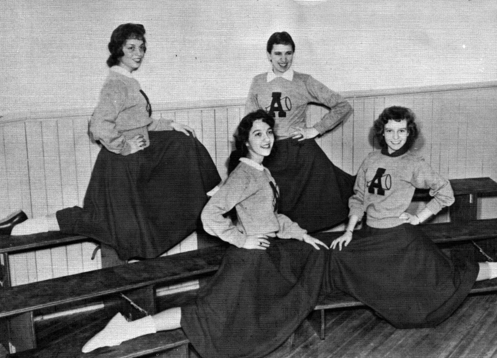 1955 ACC's first cheerleading squad