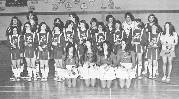 ACC Spartans, their Cheerleaders and Basketball Girls 1974