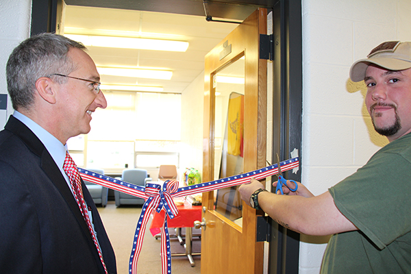 Veterans Lounge Ribbon Cutting