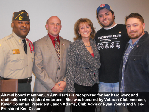 photo-2-joann-harris-is-recognized-for-her-work-with-veteran-students-she-is-pictured-with-fulton-campus-veterans-club-officers-and-the-veterans-club-advisor
